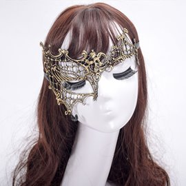 EricdressHalf Halloween Lace Lady Mask