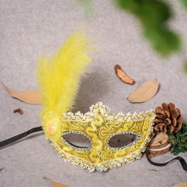 ericdress masque de plumes d'halloween