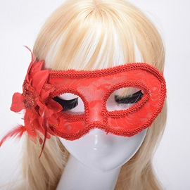 Ericdress Halloween Lace Hollow Out Party Mask