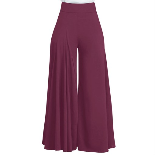 Ericdress Plain High-Waist Wide Legs Women's Pants