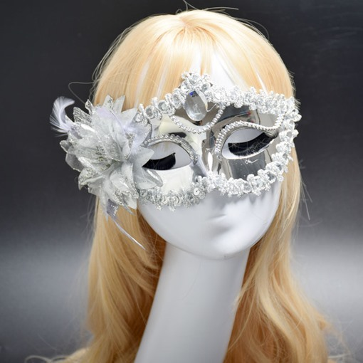 Ericdress Top Diamante Flower Party Mask