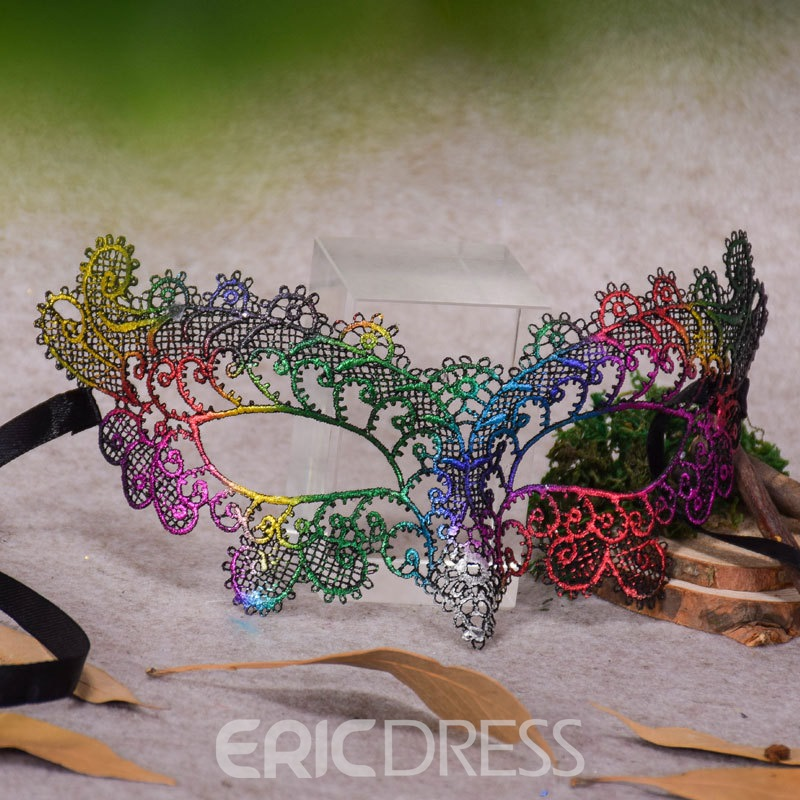 Ericdress Halloween Hollow Out Party Mask