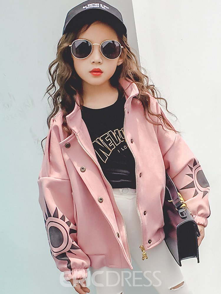 Ericdress Cartoon Stand Collar Girls Outerwears