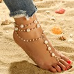 Ericdress Pearl Chain Beach Anklet