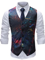 Ericdress Printed Paint Splatters Mens Casual Vest фото