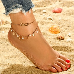Ericdress Pearl&Star Anklet фото