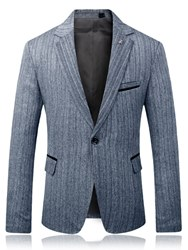 Ericdress Plain Slim Fitted Notched Lapel Mens Casaul Blazer