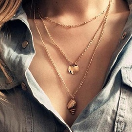 Ericdress Golden Conch Charm Necklace