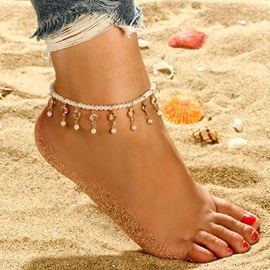 Ericdress Pearl Tassels Anklet