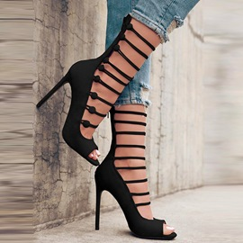 Ericdress High-Cut Upper Peep Toe Stiletto Sandals