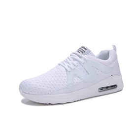 Ericdress Mesh Plain Lace-Up Round Toe Men's Sneakers