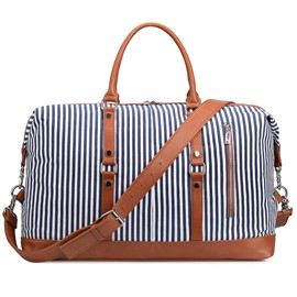 Ericdress Canvas Stripe Women Travel Tote Bag