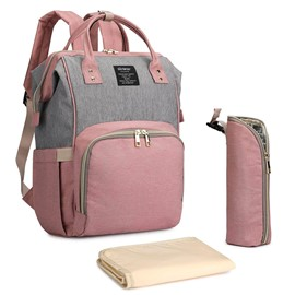 Ericdress Canvas Color Block Mother's Backpack