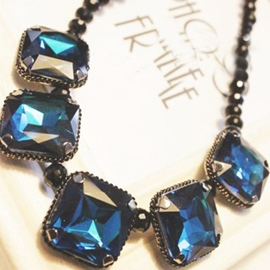 Ericdress Square Gems Charm Necklace