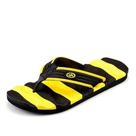 Ericdress PVC Color Block Slip-On Thong Men's Sandals