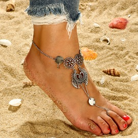 Ericdress Beach Summer Flower Anklet