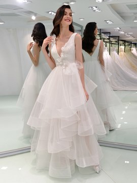 Ericdress Ball Gown Backless Wedding Dress