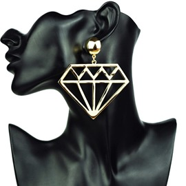 Ericdress Diamond Pattern Fashion Earrings
