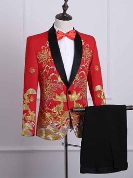 Ericdress Chinese Style Printed Mens Party Ball Suits