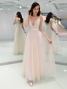 Ericdress Backless A Line Color Wedding Dress