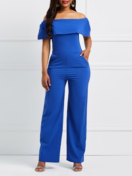 Ericdress Wide Leg Slash Neck Women's Jumpsuit