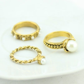 Ericdress Retro Pearl Twist Ring