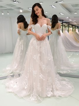 Ericdress Off the Shoulder A Line Wedding Dress