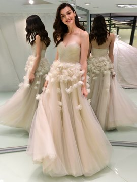 Ericdress Sweetheart Ball Gown Color Wedding Dress