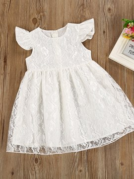 Ericdress Mesh Lace Plain Baby Flower Girl's Dress