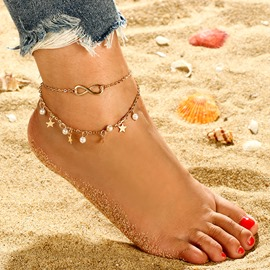 Ericdress Pearl&Star Anklet