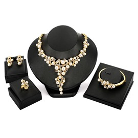 Ericdress Luxury Pearl Jewelry Set