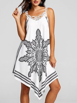Ericdress Hollow Patchwork Spaghetti Strap Casual Dress
