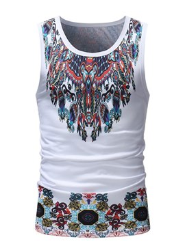 Ericdress Dashiki African Printed Scoop Mens Slim Vest