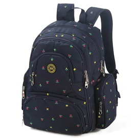 Ericdress Retro Canvas Polka Dots Backpack