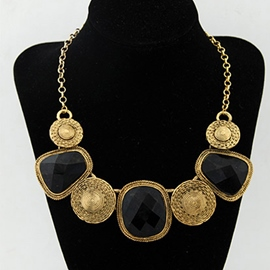 Ericdress Retro Gems Charm Necklace