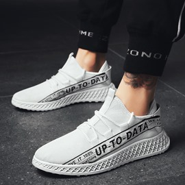 Ericdress Fashion Cloth Patchwork Letter Lace-Up Men's Trainers