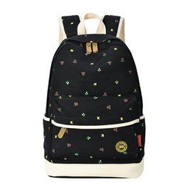 Ericdress Canvas Polka Dots Women Backpack