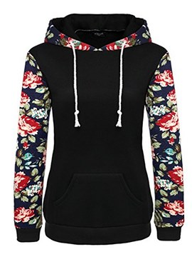 Ericdress Floral Patchwork Print Cool Hoodie