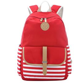 Ericdress Casual Stripe Belt Decorated Backpack