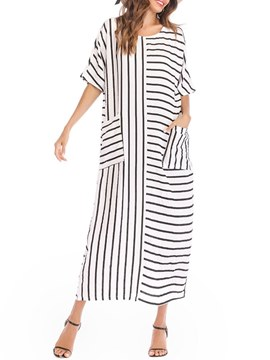 Ericdress Ankle-Length Stripe Women's Casual Dress
