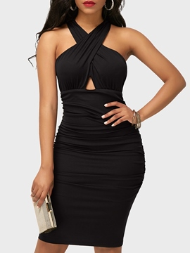 Ericdress Pleated Pullover Sexy Bodycon Dress