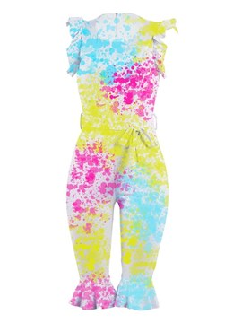 Ericdress Tie-Dye Knee Length Women's Jumpsuit