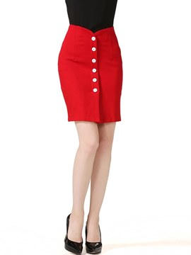 Ericdress Asymmetric Bodycon A-Line Women's Skirt