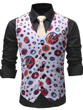 Ericdress Printed Hand Painted Mens Casual Suit Vest