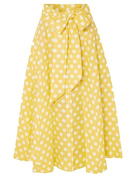 Ericdress Polka Dots A-Line Mid Calf Women's Skirt
