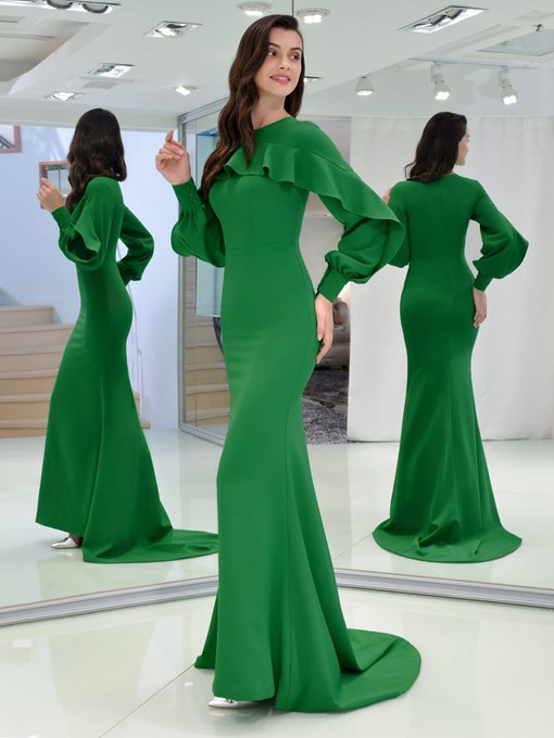 Ericdress Long Sleeve Mermaid Vintage Evening Dress