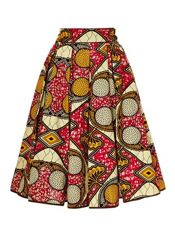 Ericdress Knee-Length Geometric Print Women's Skirt