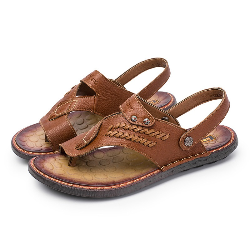 Ericdress Sewing Toe Ring Slip-On Men's Sandals