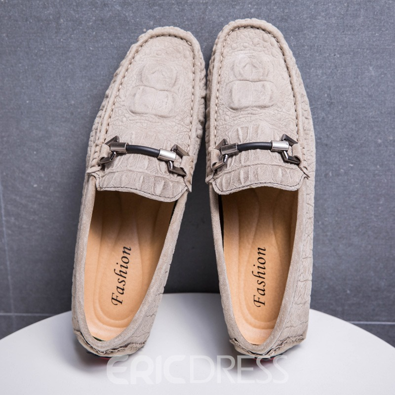 Ericdress Breathable Crocodile Slip-On Men's Loafers