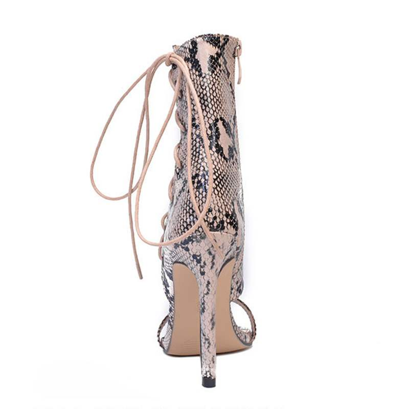 Ericdress Serpentine Heel Covering High-Cut Stiletto Sandals